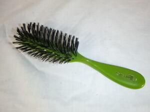 "NOS Vtg 1970s Hairbrush Avocado Green Nylon Bristles USA  7.5"" NEW"