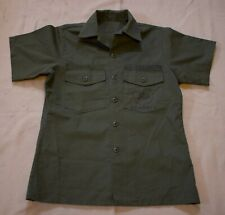 Vietnam War Era US Navy SEABEES Cotton Sateen OG-107 Short-Sleeve Shirt