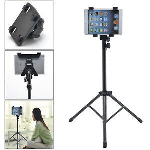 "For 7-12.5"" iPad Mini Air Pro Tablet Adjustable Floor Mount Stand Tripod Holder"