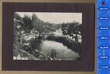 Horse & Buggy at West Lake Park, Los Angeles, CA - 1903 Historial Print