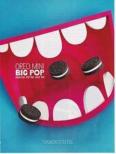 OREO cokies 2014 magazine ad mini Kraft Foods Nabisco clipping print big mouth
