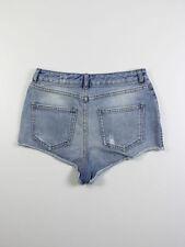 Denim Regular Size High Topshop Shorts for Women