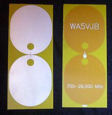 700 MHz - 26 GHz Planar Antenna by WA5VJB
