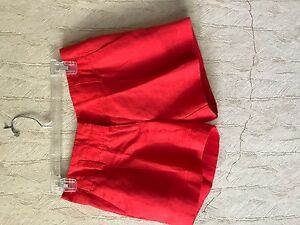 New With Tags Ann Taylor Linen Orange size 00 Shorts