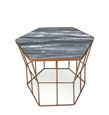 Metal and Marble Side Table Ideal for Any Room in The House Copper Prague