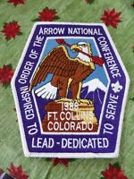 1988 National Order Of The Arrow Conference NOAC Back Patch BSA Boy Scout