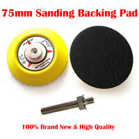 Hook and Loop Backing pad, Sanding, Polishing pad with drill attachment 3'' 75mm