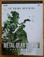 Guide officiel Metal Gear Solid 3 / fr intégral / tbé / envoi rapide et protégé