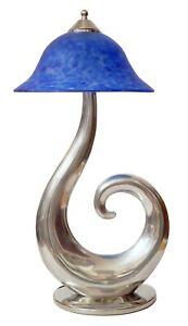 """Design Unikat Tischleuchte """"BLUE MUSHROOM"""" Sammlerstück Lampe Art Deco"""