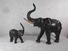 "Großartige Keramik Tierskulptur "" Stehende Elefanten "" Art deco um 1925"