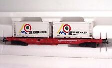 ROCO 47001 DB Kombiwaggon Sdgmns + 2 Container Schenker Ep V