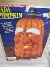 WEE CRAFTS PAPA PUMPKIN LIGHTED WITH CORD PAINTED KIT # 21557 HAS CHIP RARE