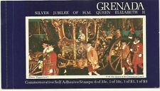 Grenada 1977 Silver Jubliee Booklet Imperforate Self Adhesive FaceV $5.60  j7938