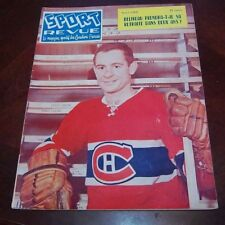 Sport Revue Hockey April 1962  cover Bobby Rousseau  lot # 3