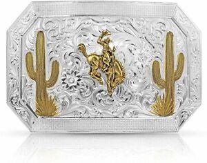 Montana Silversmiths Desert Joy Cactus Ranch Rodeo Bucking Horse Buckle