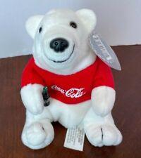 Collectable Coca-Cola Bean Bag Plash Polar Bear 1997