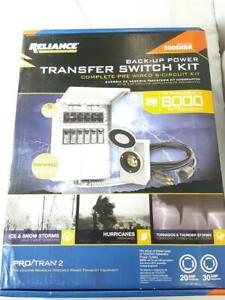 NEW!!!! Reliance Controls 3006HDK 8000 Watt Complete Pre-Wired 6 Circuit Kit
