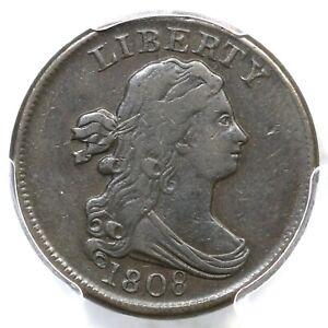 1808 C-3 PCGS VF 35 Draped Bust Half Cent Coin 1/2c