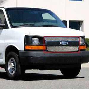 T-Rex 03-19 Fits Chevrolet Express Van Upper Class Mesh Grille Overlay Polished