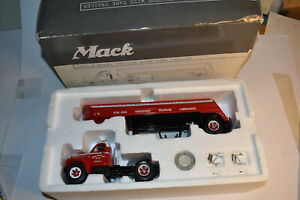 First Gear 1/34 Mack B-Model Tractor With Tank Trailer Carroll Fuel 19-2834 New