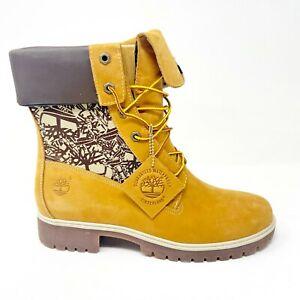 Timberland Womens 6 Inch Premium Waterproof Boots Lady Wheat Nubuck 19316