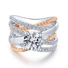 Shiny White Gold Plated White Topaz Infinity Jewelry Women Wedding Set Ring Sz 8
