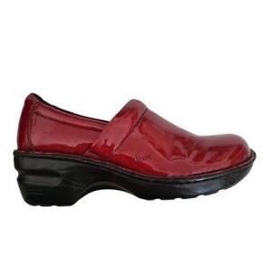 BOC Born Concept Women US 7 EU 38  Red Patent Leather Clog Comfort Shoes