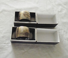 Lot of 2 Silver & Bakelite Napkin Rings in Original Boxes English Hallmarks