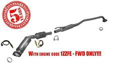 Catalytic Converter with O2 Sensors for Corolla Matrix & Vibe 1.8L 1ZZFE FWD