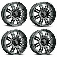 Set 4 16 Vision Warrior 375 Gloss Black Wheels 16x8 8x65 6mm Truck Rims