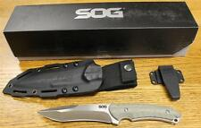 NEW SOG Kiku Matsuda Small Satin Fixed Blade Knife - Green Linen Micarta KU-2001