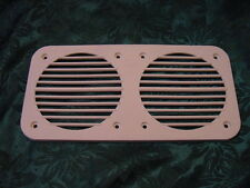 """DUAL HORN  BOAT COVER GRILL LARGE 9-9/16"""" X 4-7/8"""" WHITE SEA RAY BOAT NEW"""