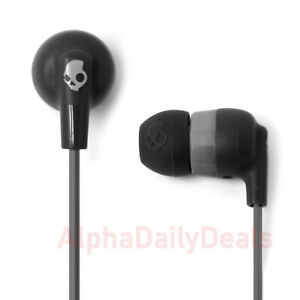 NEW Skullcandy Ink'd+ Wired In-Ear Headphones with Microphone Black