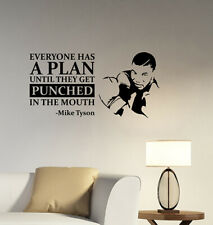Mike Tyson Inspirational Quote Wall Decal Boxing Vinyl Sticker Art Decor mkq1