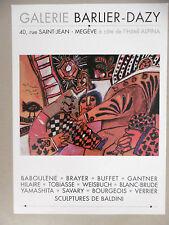 Théo TOBIASSE  Affiche originale Jaffa Cagnes sur Mer Megève Musique Onirisme