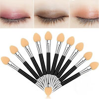 12Pcs Makeup Double-end Eye Shadow Eyeliner Brush Sponge Applicator Tool JCAU