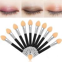 12Pcs Makeup Double-end Eye Shadow Eyeliner Brush Sponge Applicator Tool  EB