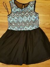 beautiful NWT Love Reign Women's Dress Black party Dress Lined Size 15 Sequins