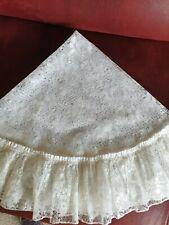 Retro Small White Lace Round Tablecloth 40 inches diameter