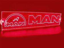 24v LED ROJO INTERIOR CABINA luz Placa para MAN Camión Neón Mesa Señal Luz