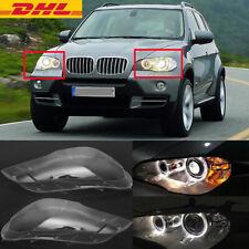 2X Scheinwerferglas Klar Scheinwerfer Streuscheibe für BMW X5 E70 2008-2012 DHL