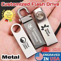 Custom logo compact  USB Flash Drives Memory Metal U Disk PC Laptop personalized