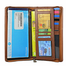 Hide & Sleek Men's Brown Travel Artificial Leather Passport Holder