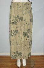 NYGARD Collection Size 10 Green Floral Long Skirt