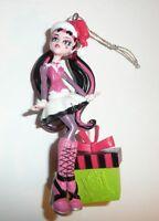 Monster High Character Holiday Christmas Tree Ornament Girl Present Santa Hat