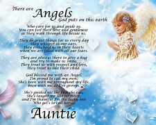 Personalised Auntie Poem Birthday Angels Mothers Day Christmas Gift Present