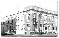 RPPC American State Bank, Sheridan, IN Real Photo Postcard *5B