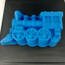 Train Silicone Cake Mould Large Blue Mold 11 inches x 7 inches