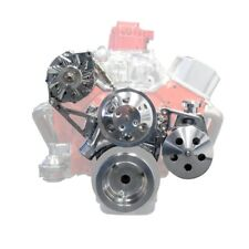 TSP DS35012 Small Block Chevy V-Belt Front Drive System, Alternator, Power Stee