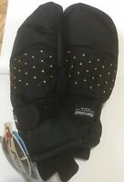 Polar Wear Girls Thinsulate Black MIttens G & S Originals Waterproof 12-14 NWT!
